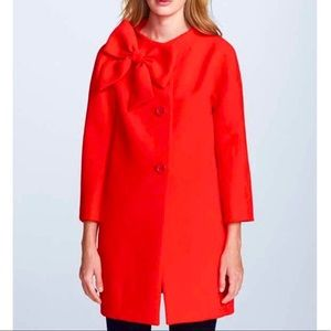 NEW! KATE SPADE Kendal Bow Coat Lollipop Red